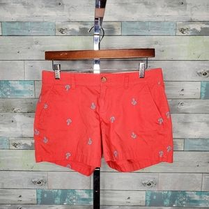 Old Navy Coral Blue Anchor Embroidered Shorts 2